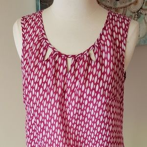 Pink and white tank